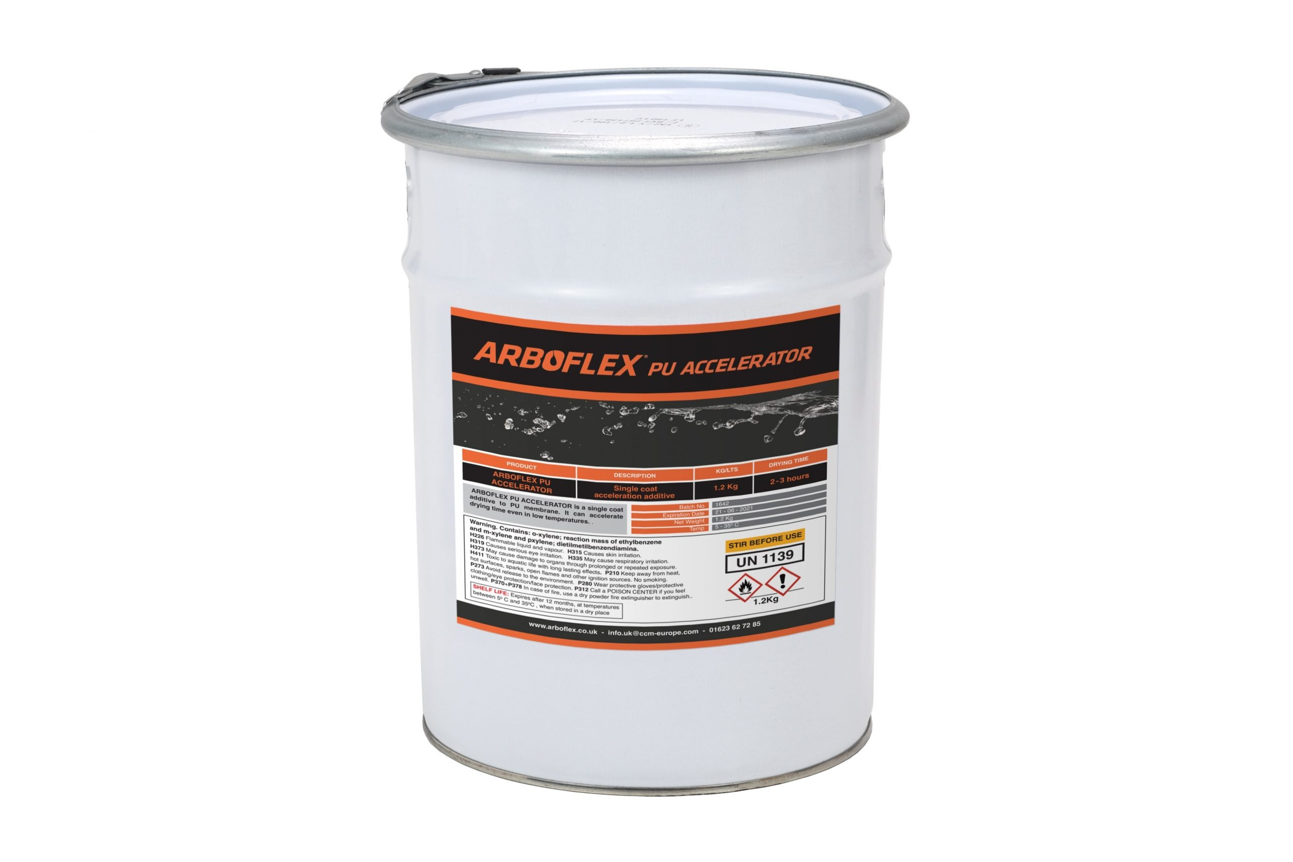 A tin of additive to add to Arboflex PU for fast curing
